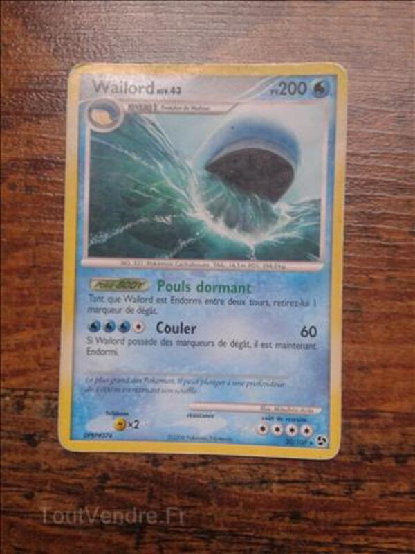 Carte pokémon Wailord 200 PV ( la plus puissante du jeu )