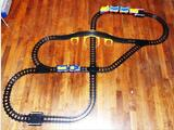 Circuit trains à pousser + rails PLAYMOBIL 1 2 3 TBE