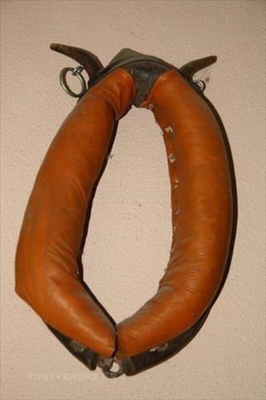 Collier cheval de trait antiquité décoration brocante