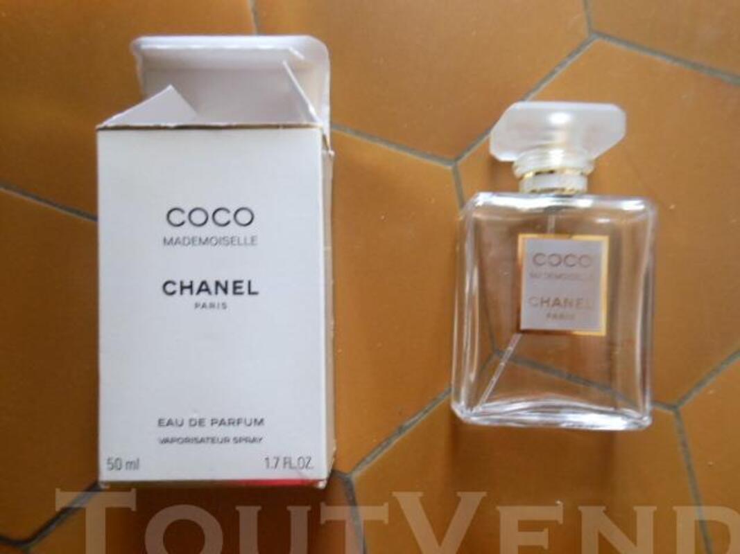 Flacon de parfum vide + boîte COCO MADEMOISELLE