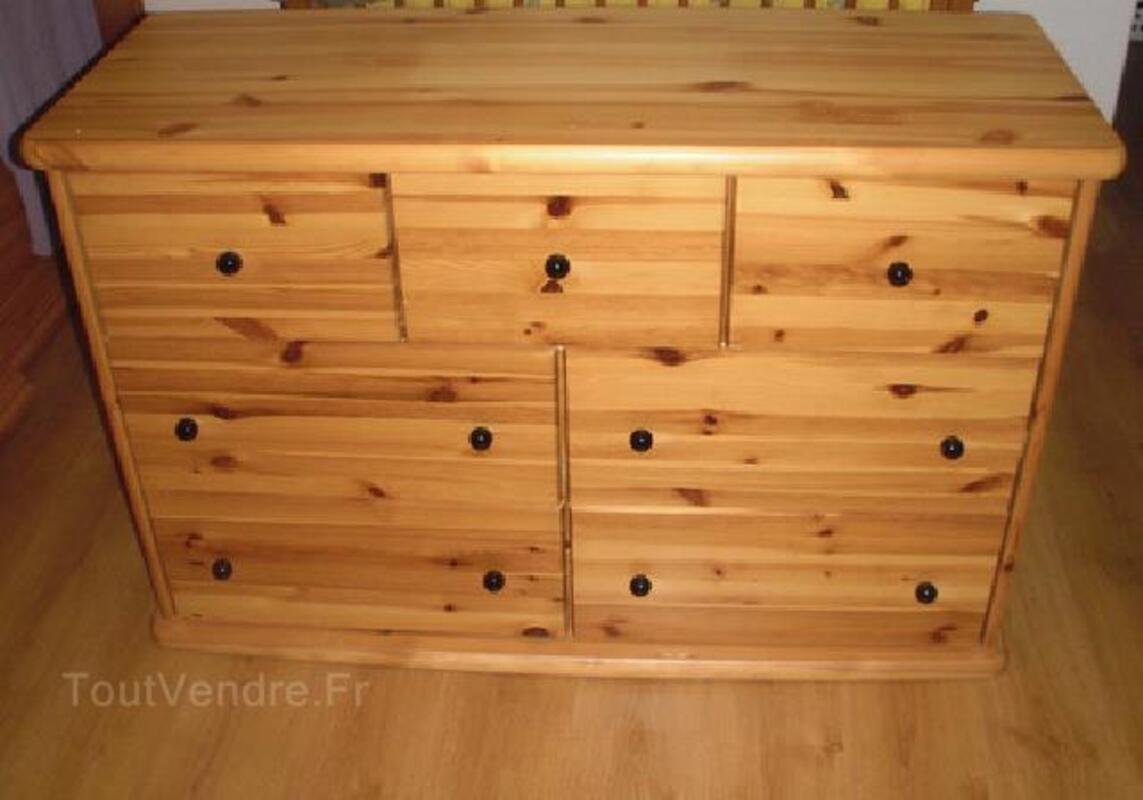 p Grande commode en pin massif  tiroirs