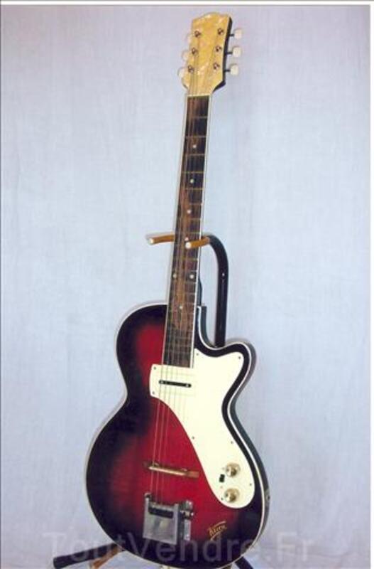 photo de guitar vintage , signature , blues et jazz  Guitare-vintage-KLIRA-ann%C3%A9e-60_6467628L