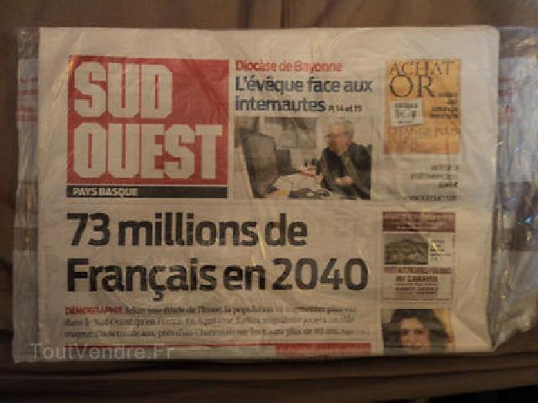 JOURNAL LE SUD-OUEST PAYS BASQUE / 8 DECEMBRE 2010