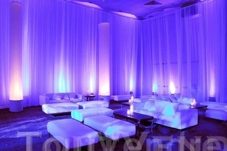 location voilage drapage pour mariage 85550341 - Voilage Mur Mariage