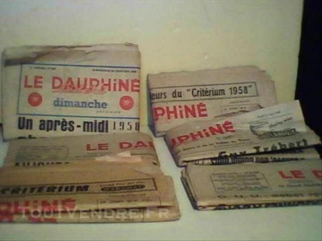 Le  DAUPHINE  LIBERE   1956  / 1963   -   198  numéros