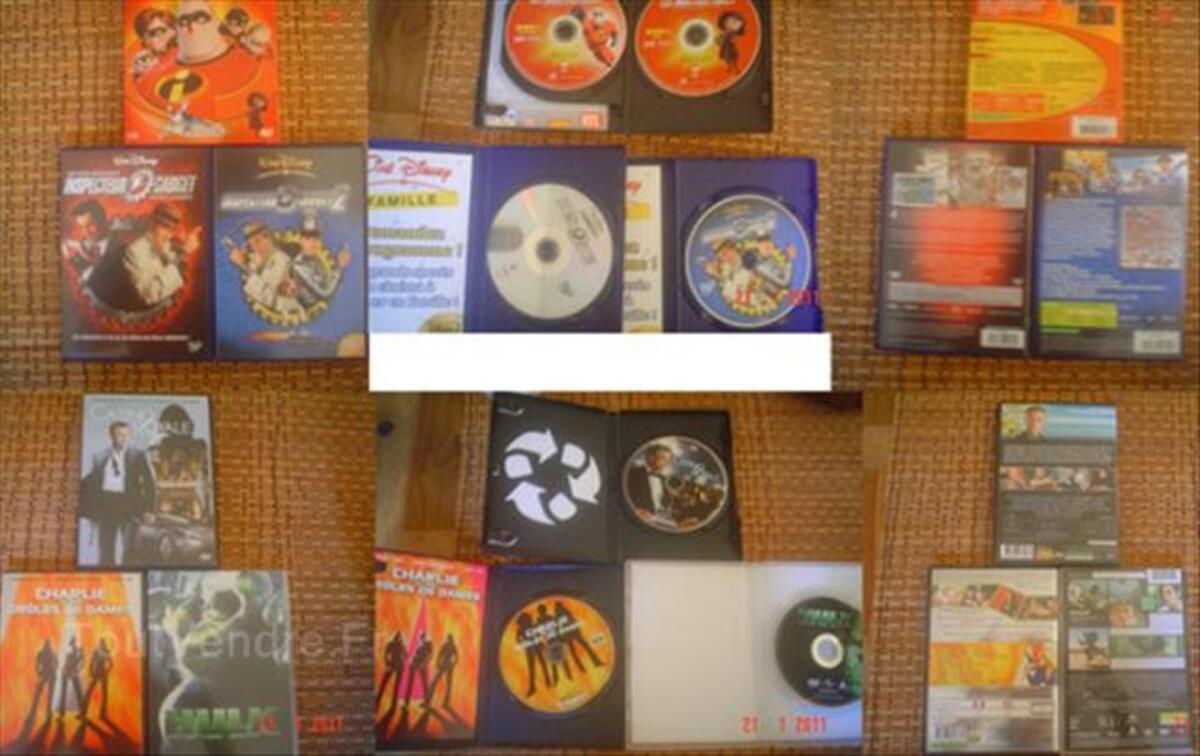 Lot 6 DVD Disney(3)James Bond Hulk Drôles de dames