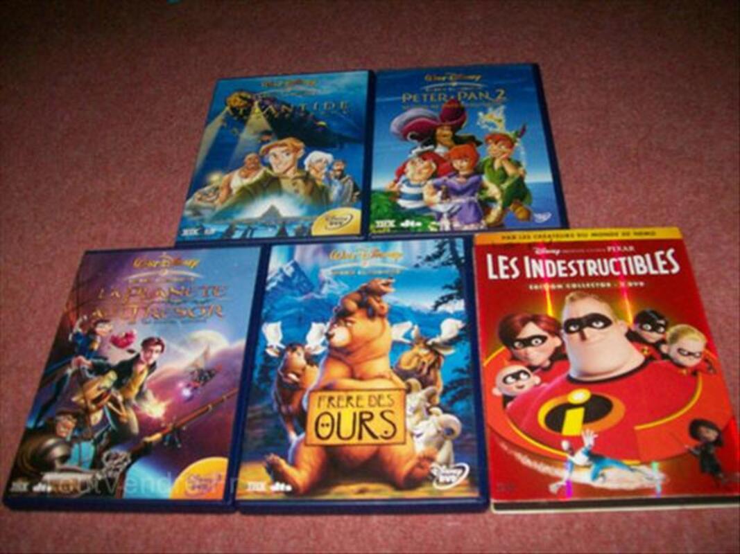 Lot de 5 DVD Disney
