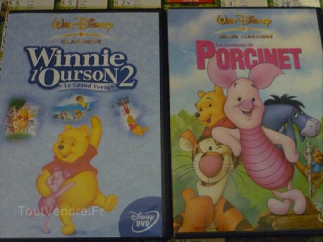 Lot de DVD dessin animé disney