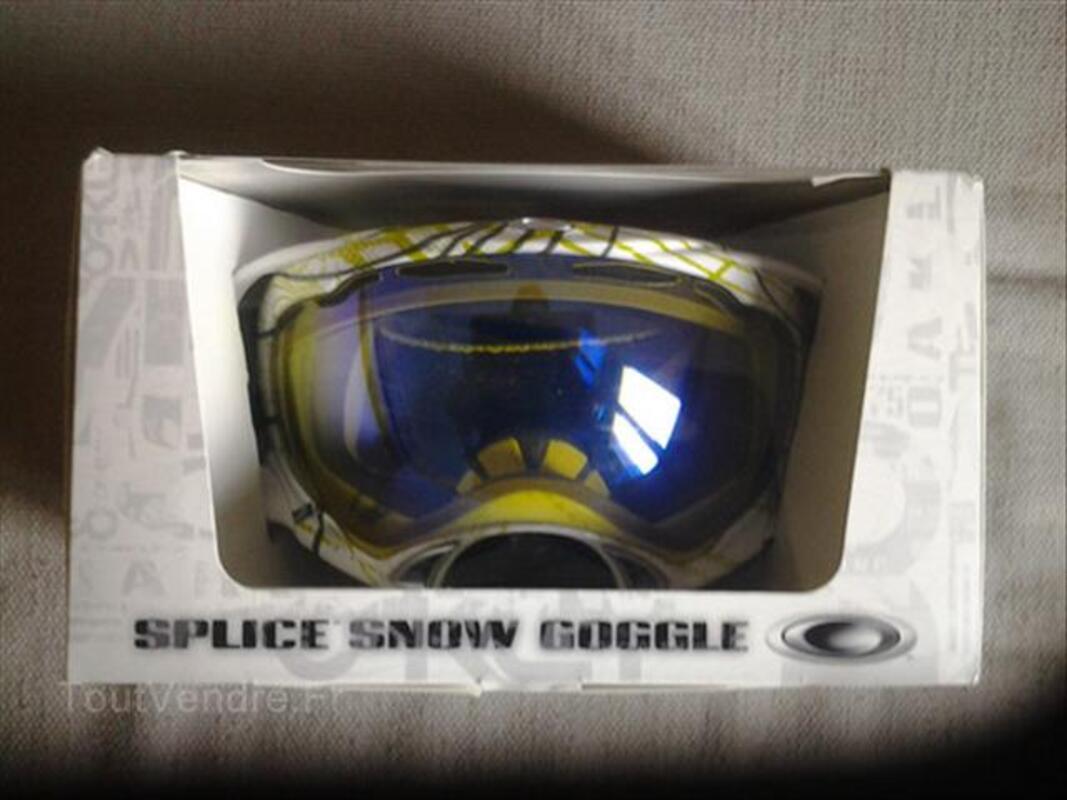 masque de ski oakley splice pas cher