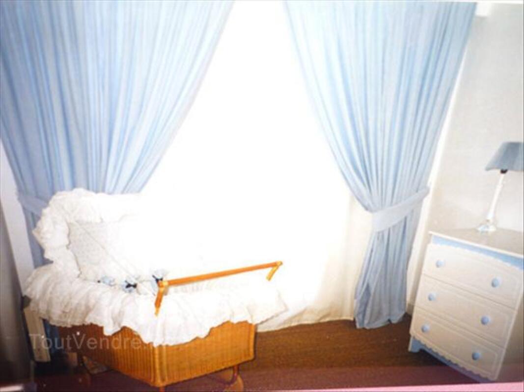 p Paire de rideaux vichy bleu et blanc