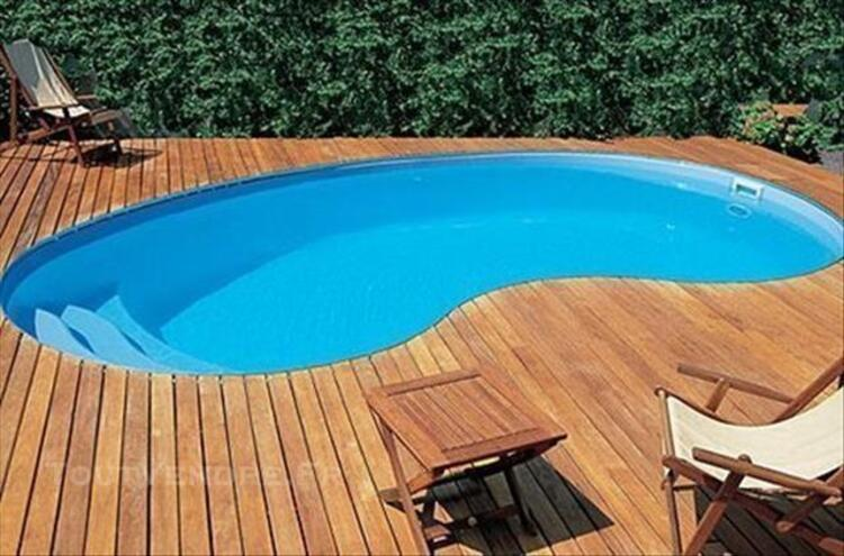 Piscine  coque polyester dimaline piscines haricot