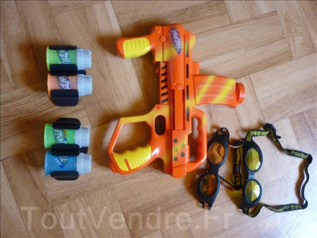 Pistolet paint ball avec recharges et lunettes