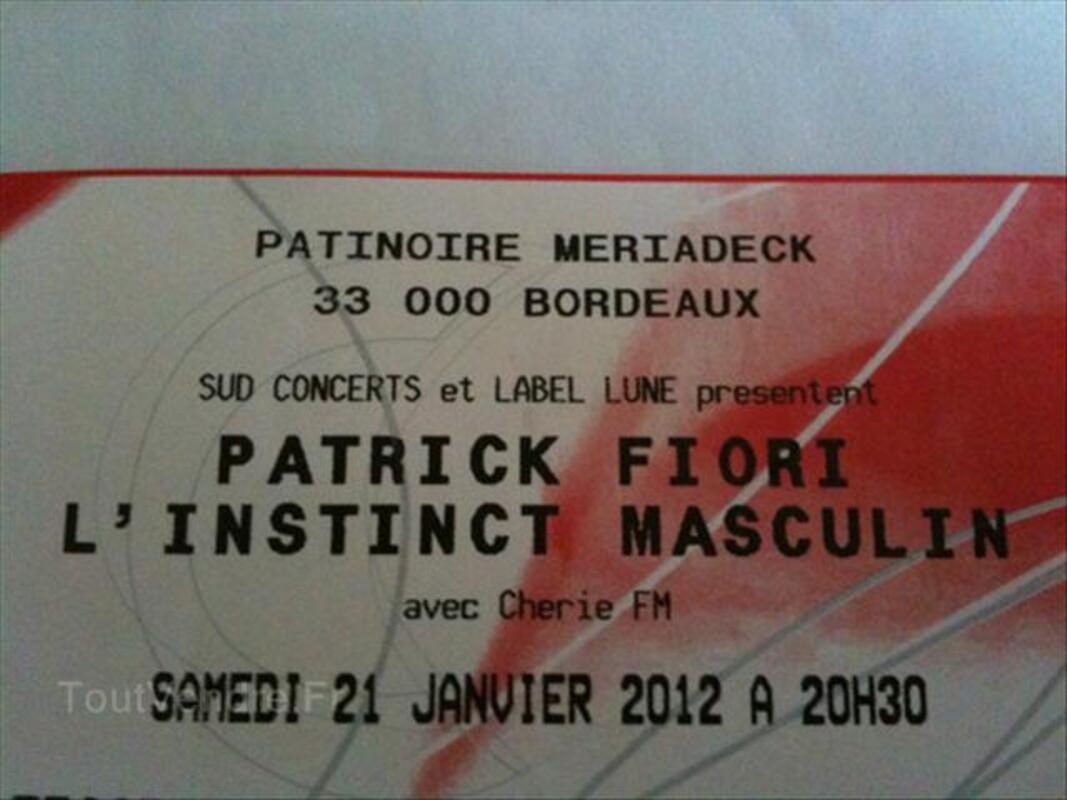 Place de concert Patrick Fiori a Bordeaux