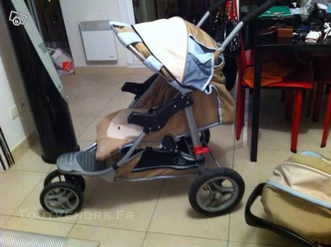 Poussette 3 roues TEX BABY avec nacelle + cosy