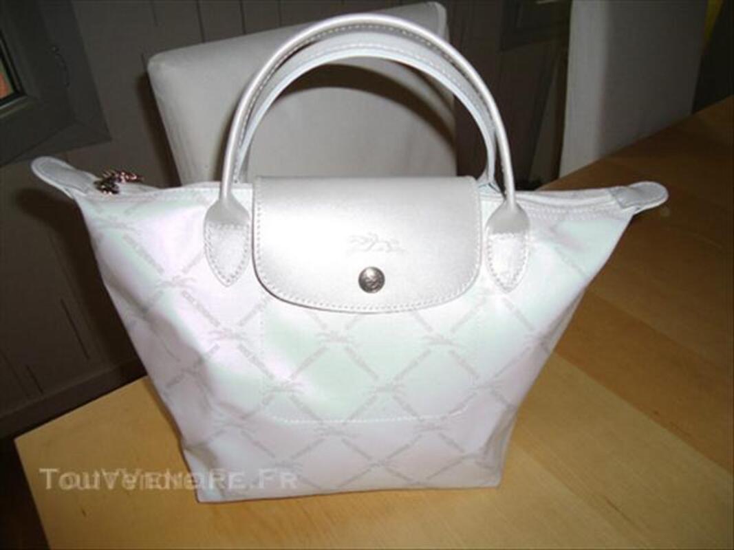 sac longchamp blanc nacre