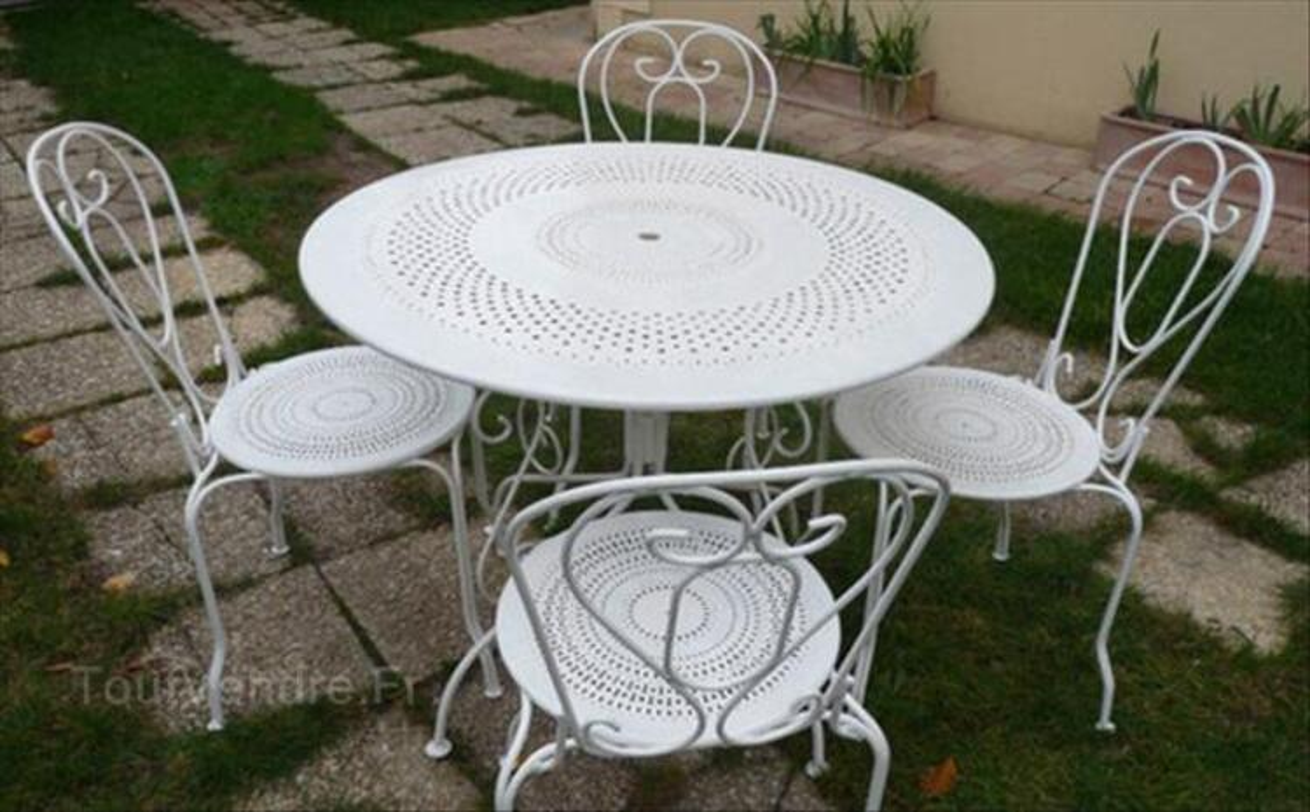 table jardin en fer: table de jardin en fer forge achat vente.