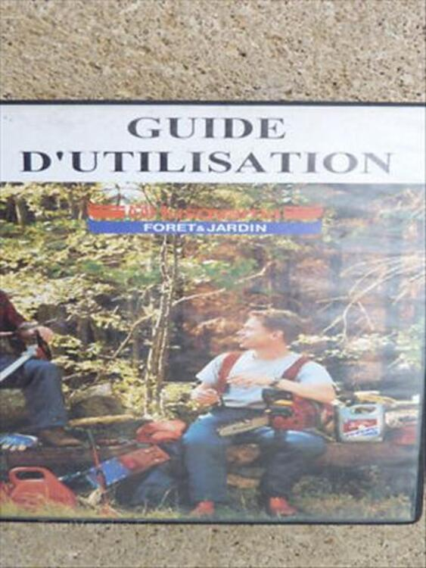 TRONçONNEUSE,guide d'utilisation,cassette videoTBE