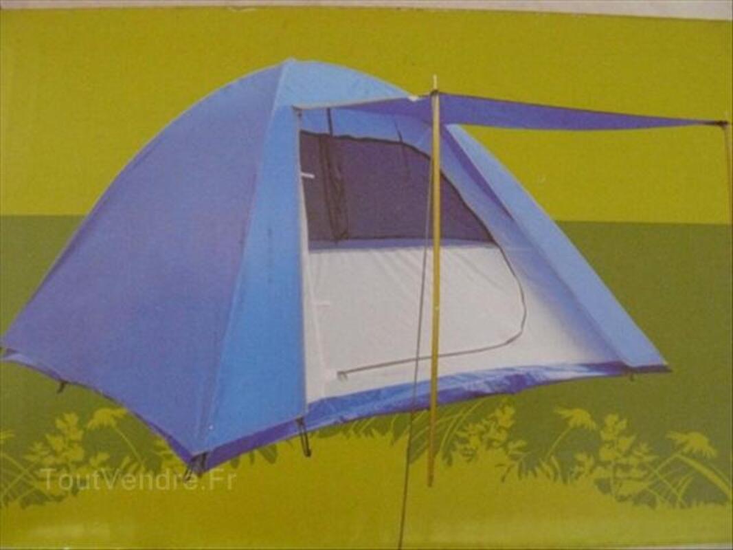 Tente 3 places, double toit, auvent, NEUVE jamais servi