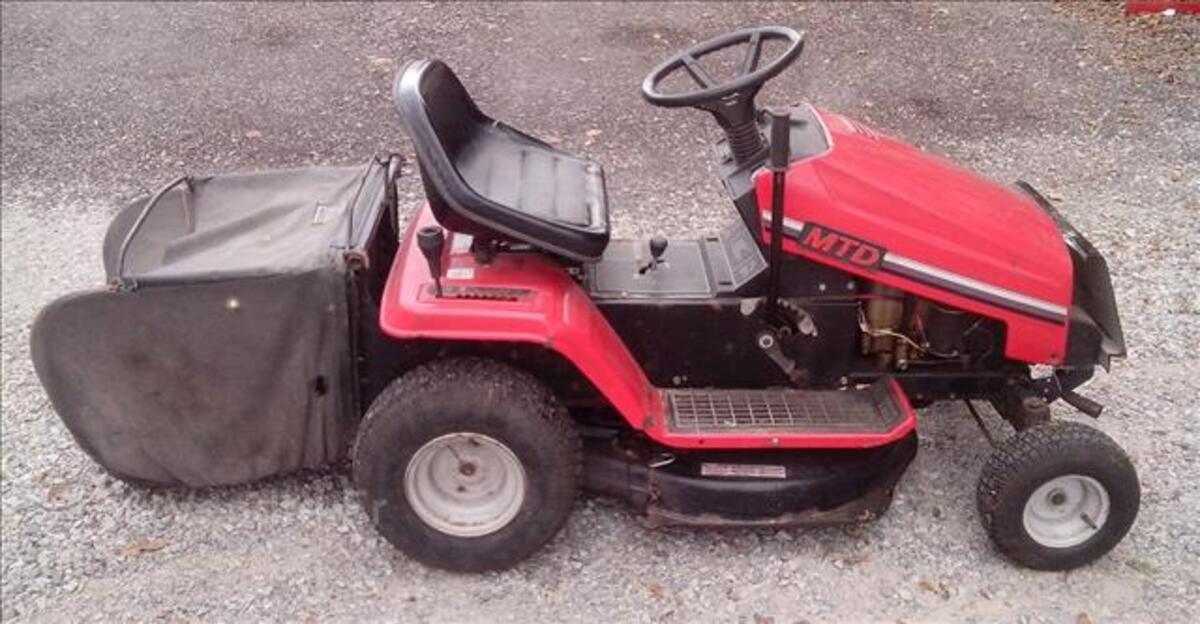 Tracteur tondeuse autoporte MTD 12.5cv 80cm + bac