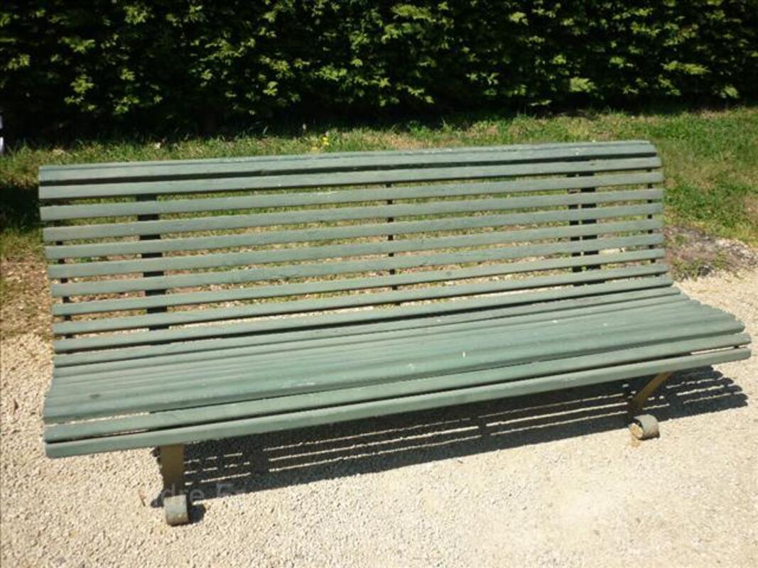 Banc Jardin Bois Et Fer Forgé