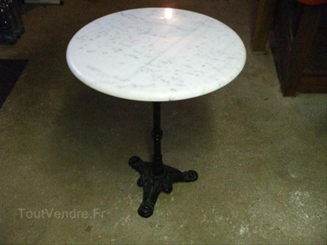 Ancienne table bistrot en marbre abancourt 60220 ameublement - Table de bistrot marbre ...