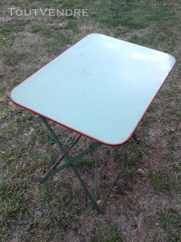 Ancienne Table Jardin Métal Rectangulaire Pliante Suxn Les Abrets 38490