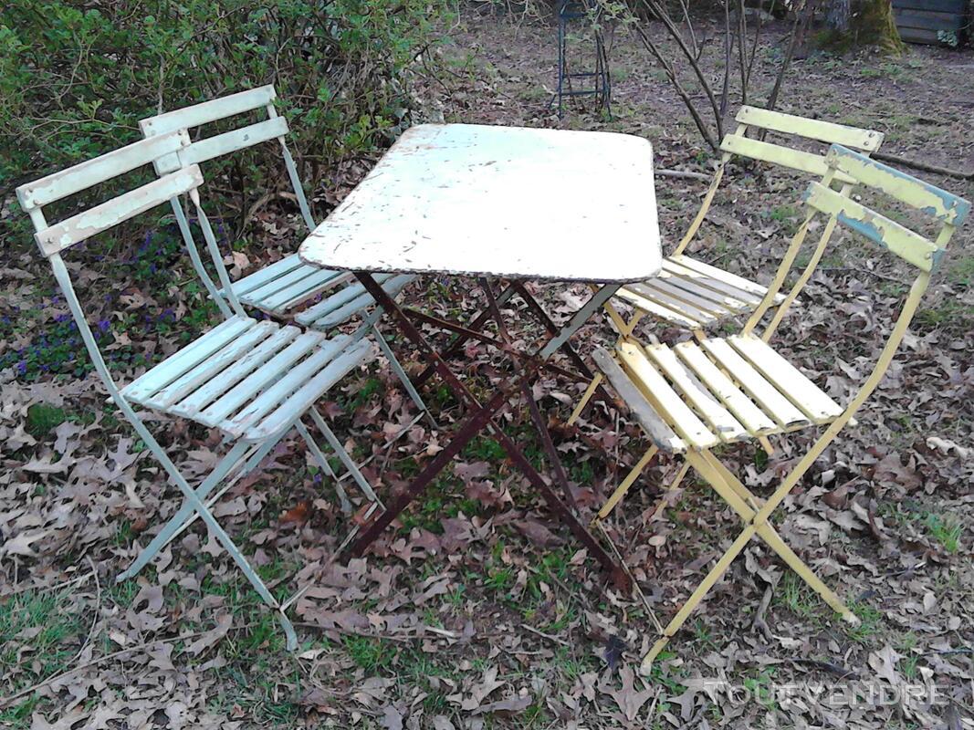 Anciennes Chaises Fer&Bois Jardin/Balcon Suxn Les Abrets 38490