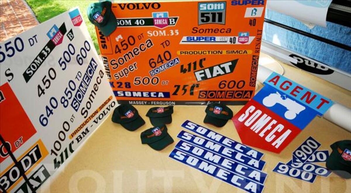 Kit stickers tracteur Someca 850
