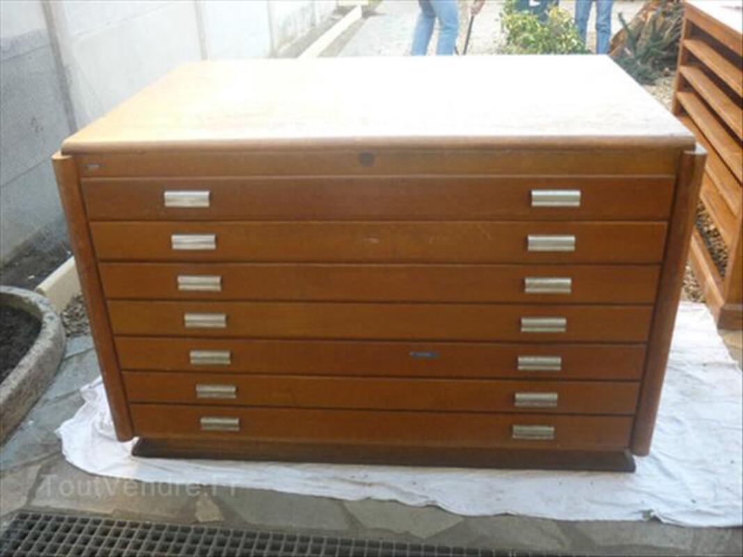 beau meuble de metier ancien d 39 architecte cartographe achen 57412