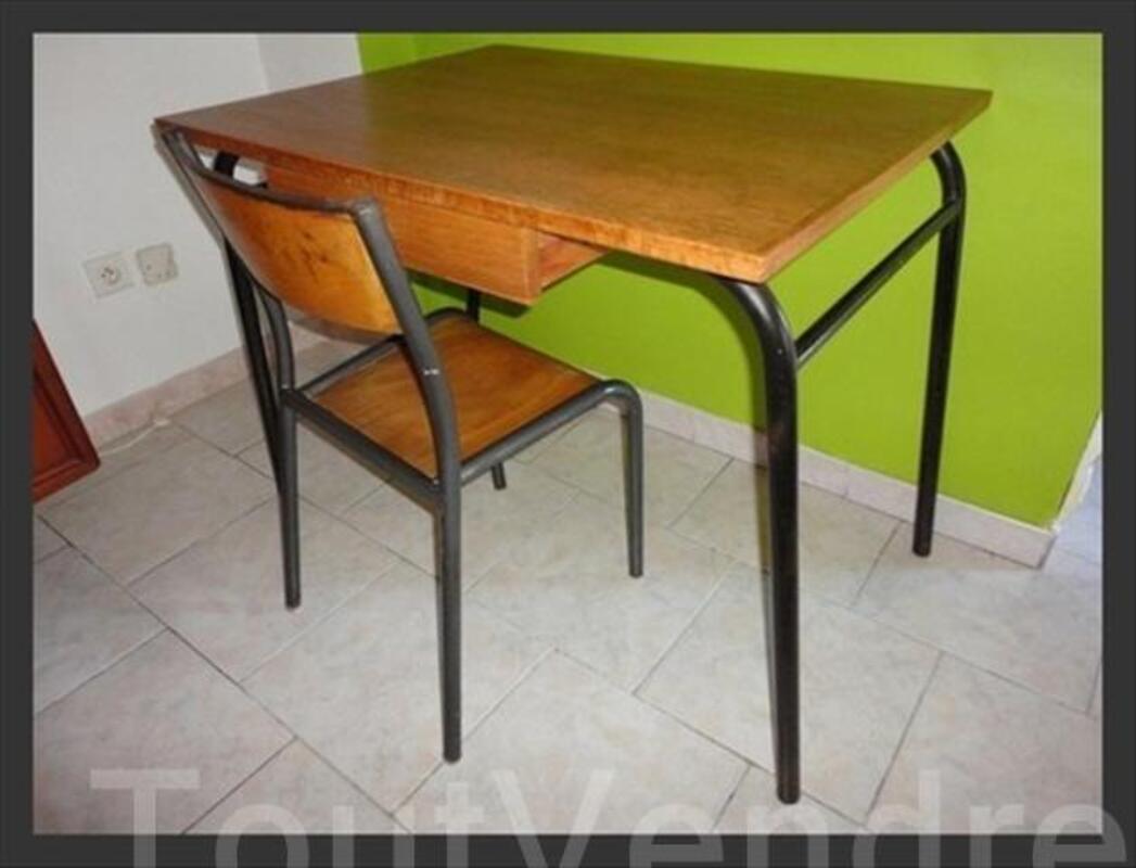Bureau Vintage Chaise Style Atelier Annee 50 60 56194387