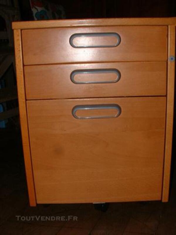 Caisson A Tiroirs De Bureau Ikea Couleur Miel Chevigney Les Vercel 25530
