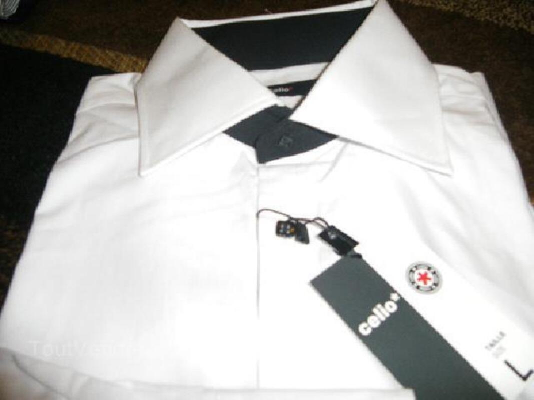 Chemise Homme Celio Blanche Et Noir Taille L Puxieux 54800 Vetements