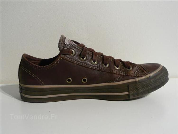 CONVERSE ALL STAR Basse Cuir Marron T39 + Boîte Toulouse 31000
