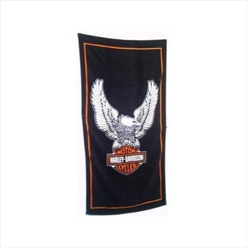 Serviette De Plage Harley Davidson.Drap De Plage Serviette De Bain Harley Davidson Neuf