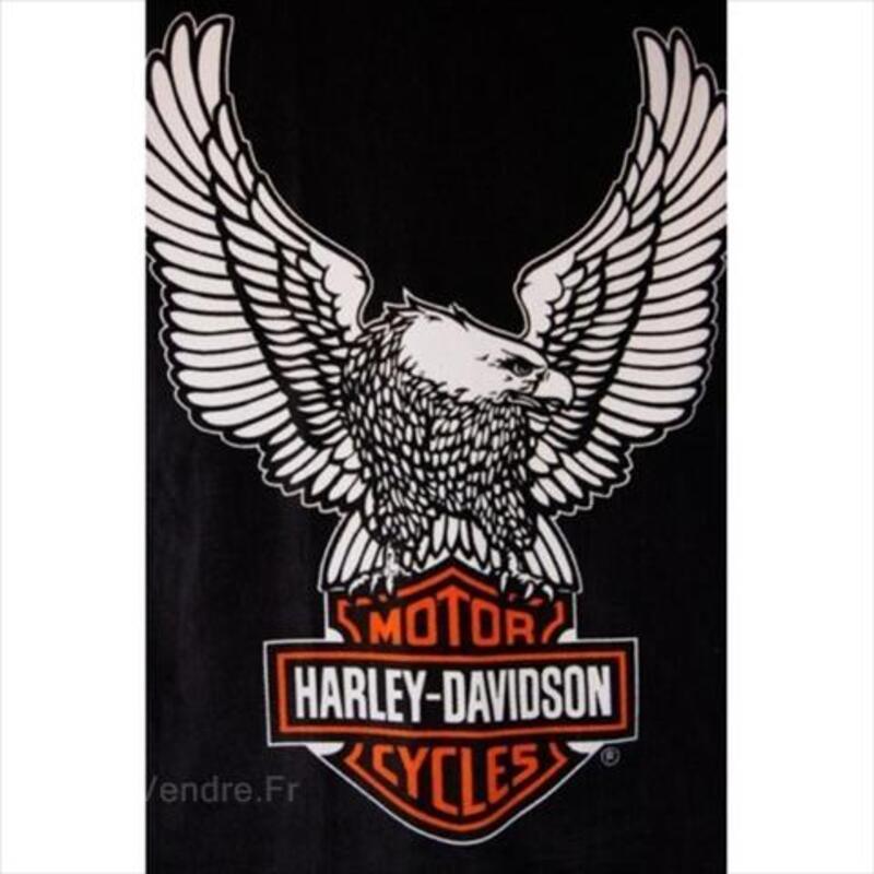 Serviette De Plage Harley Davidson.Drap De Bain Harley Davidson Serviettes Gants De Toilette
