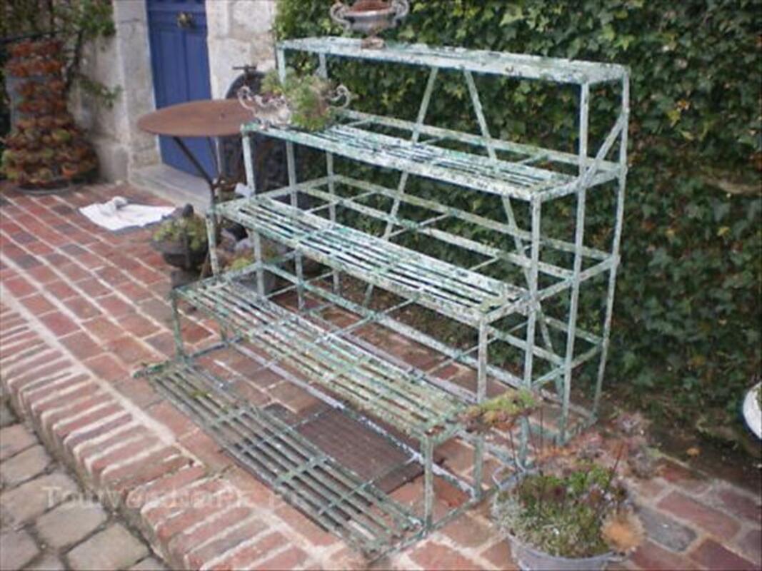 Escalier,Étagère,Porte Pots Jardin En Fer Forgé Ancien ...