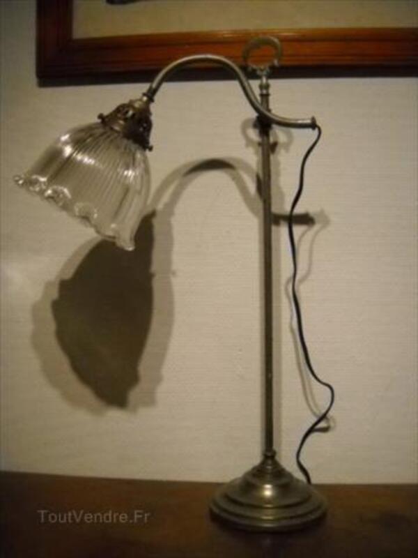 Jolie Lampe De Bureau Sur Pied Metal Annees 30 Riel Les Eaux 21570