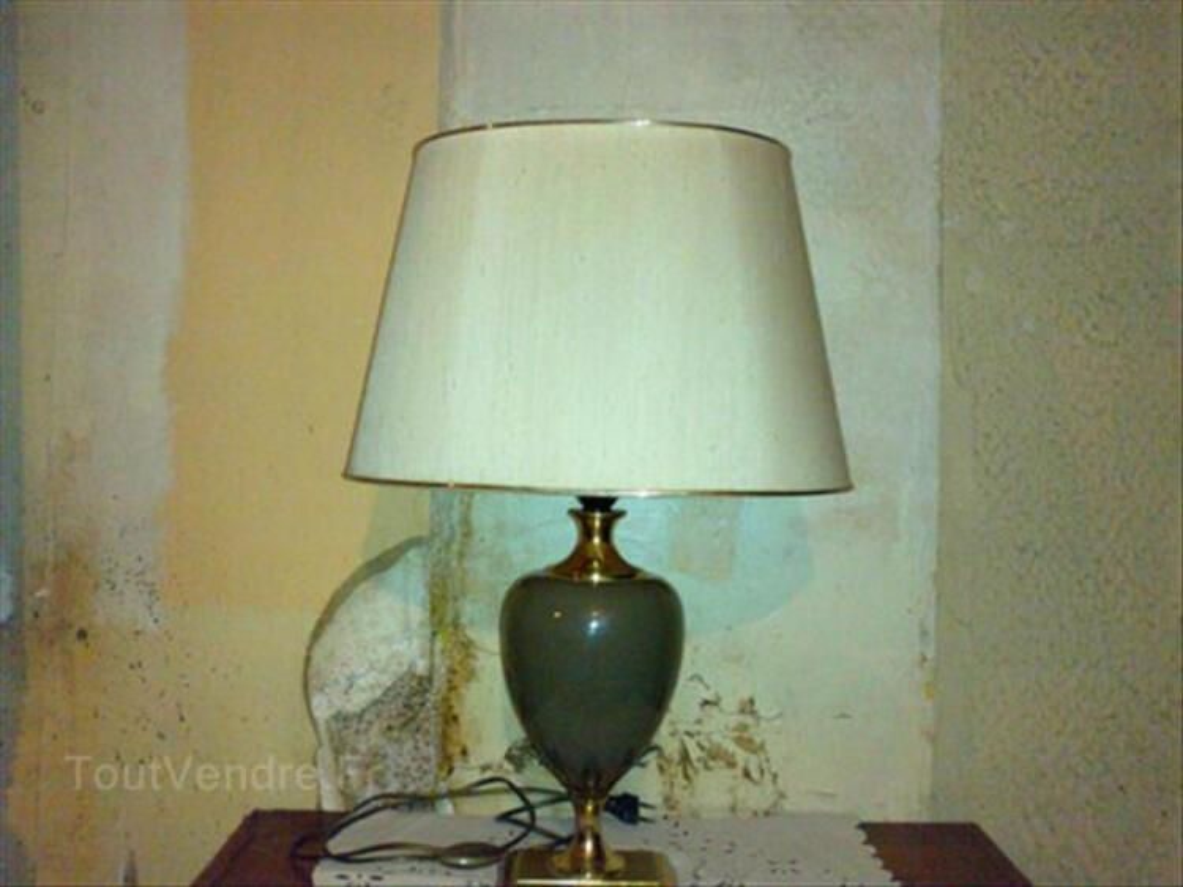 Lampe Ancienne Sur Pied Abat Jour Oval Balledent 87290 Decoration