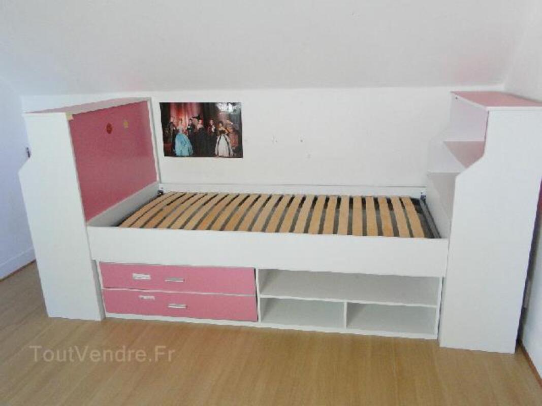 Lit combine bureau chambre de jeune fille le collet de dèze 48160