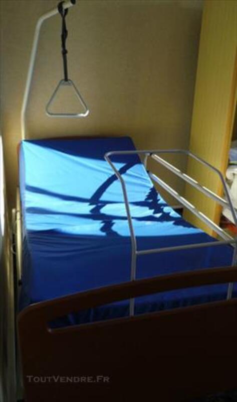 Lit Medicalise Electrique Matelas Anti Escarres Lunac 12270