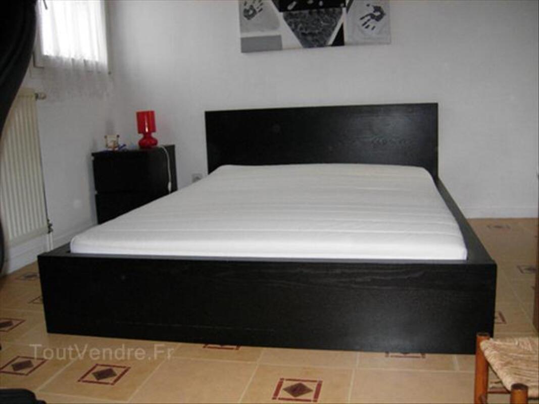 Lit Noir Ikea Malm Complet 2 Places Audelange 39700 Ameublement