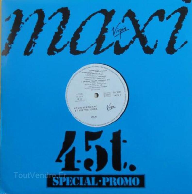 Louis Bertignac Ces Idees La Maxi Promo Pleguien 22290 Vinyles