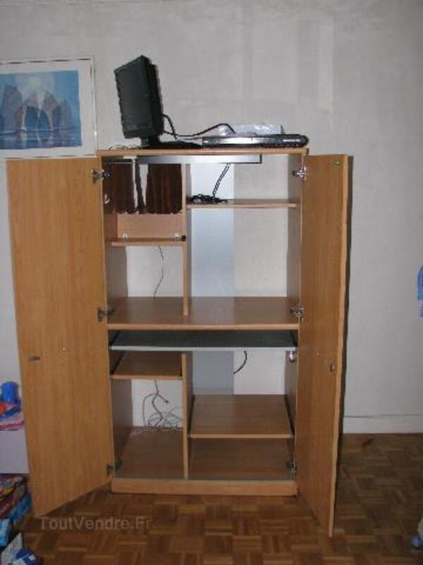 meuble ordinateur avec porte brignac 34800 ameublement. Black Bedroom Furniture Sets. Home Design Ideas
