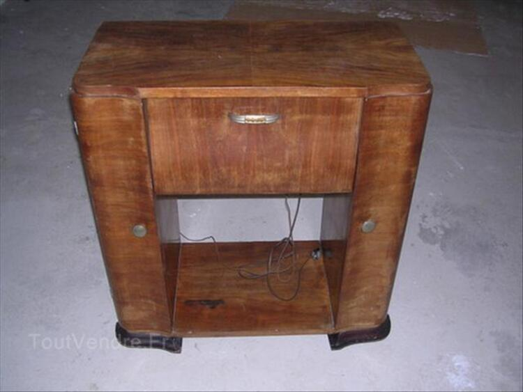 Meuble Radio Et Tourne Disque Ancien Rodern 68590