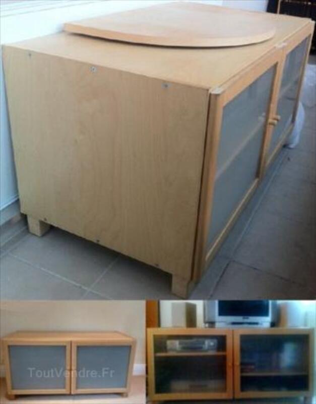 Meuble Tv Billy Ikea Avec Portes En Verre Opaques