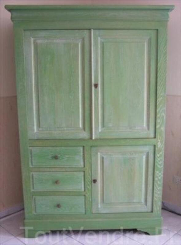meuble tv chene ceruse vert saint thibault 21350 ameublement. Black Bedroom Furniture Sets. Home Design Ideas