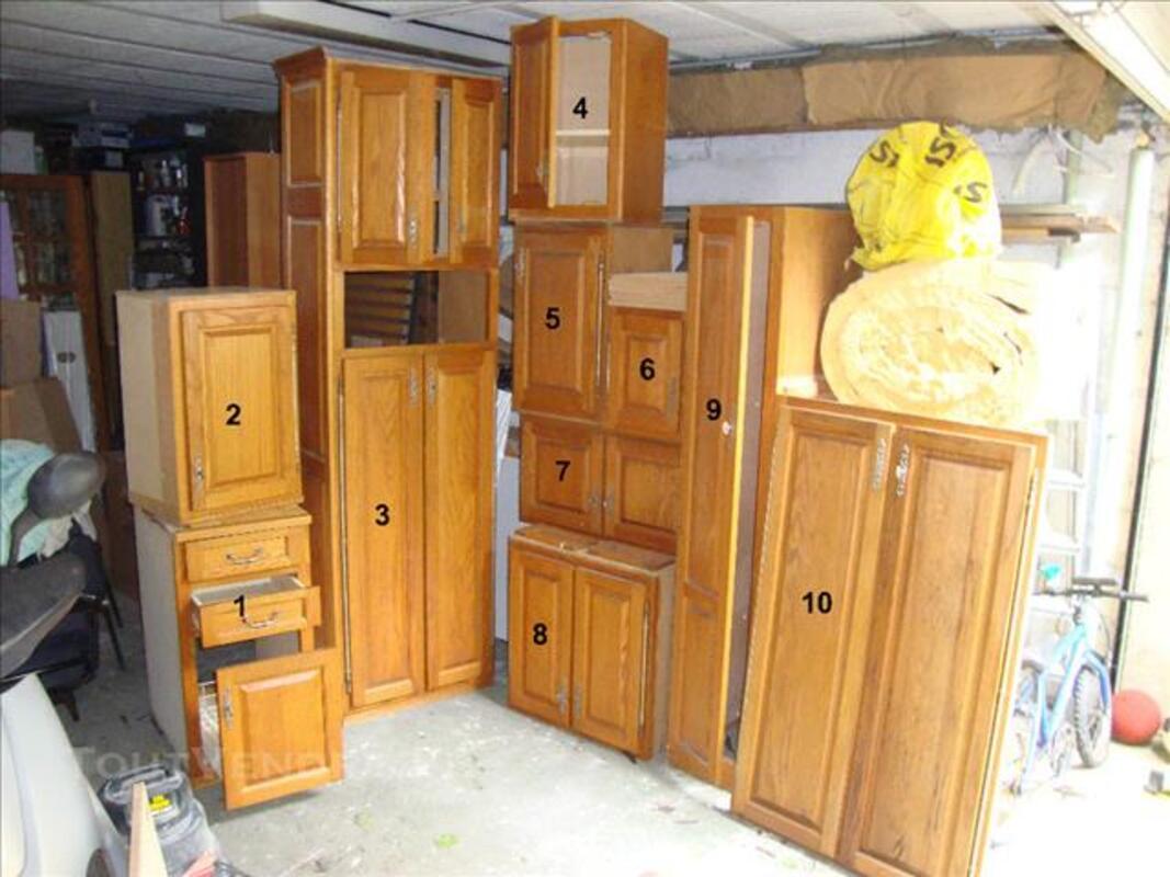 meubles de cuisine ch ne massif lapeyre brocourt en. Black Bedroom Furniture Sets. Home Design Ideas