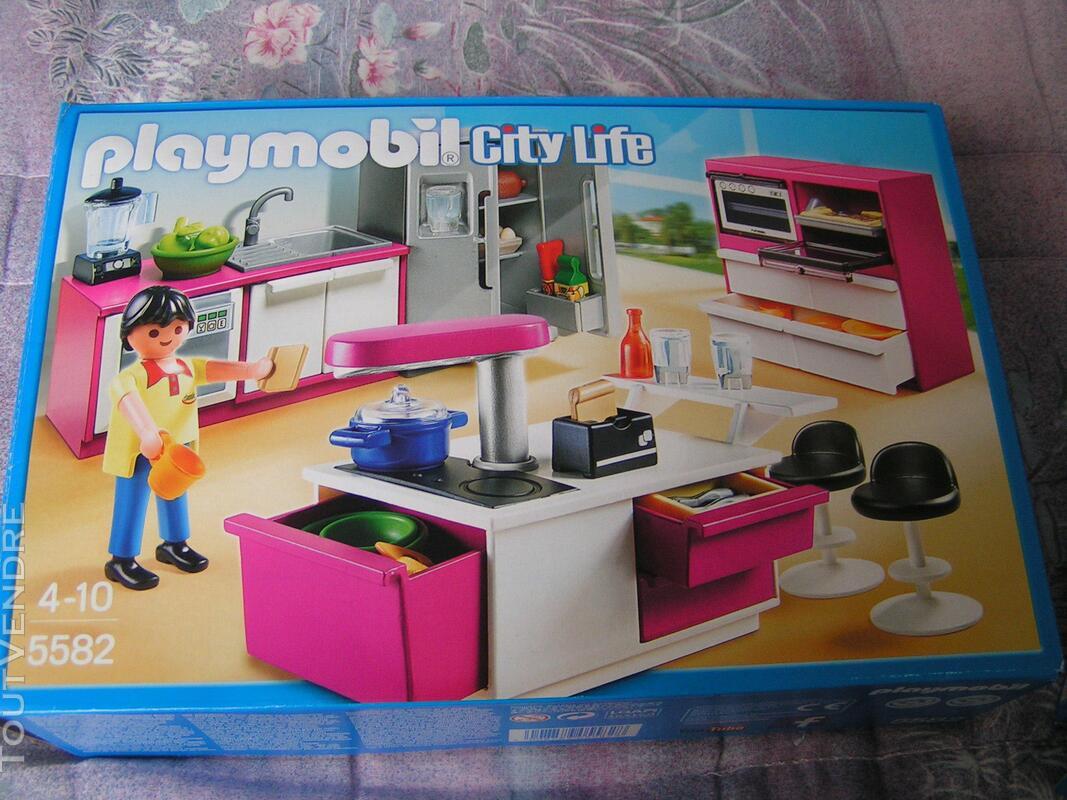 Playmobil Maison Moderne +piscine +cuisine 290497751