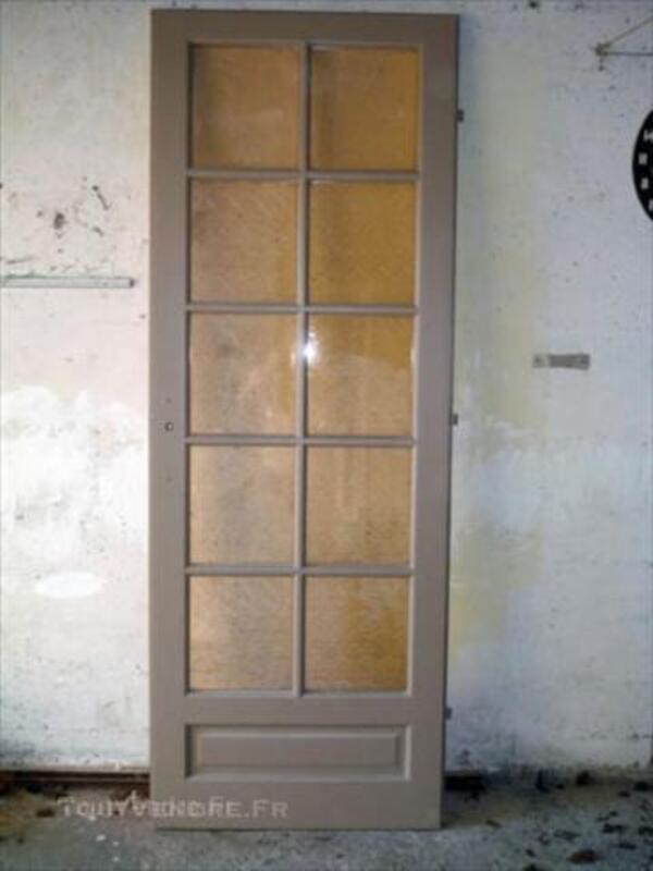 Porte Dintérieur Vitrée En Bois Massif Chavanay 42410 Décoration