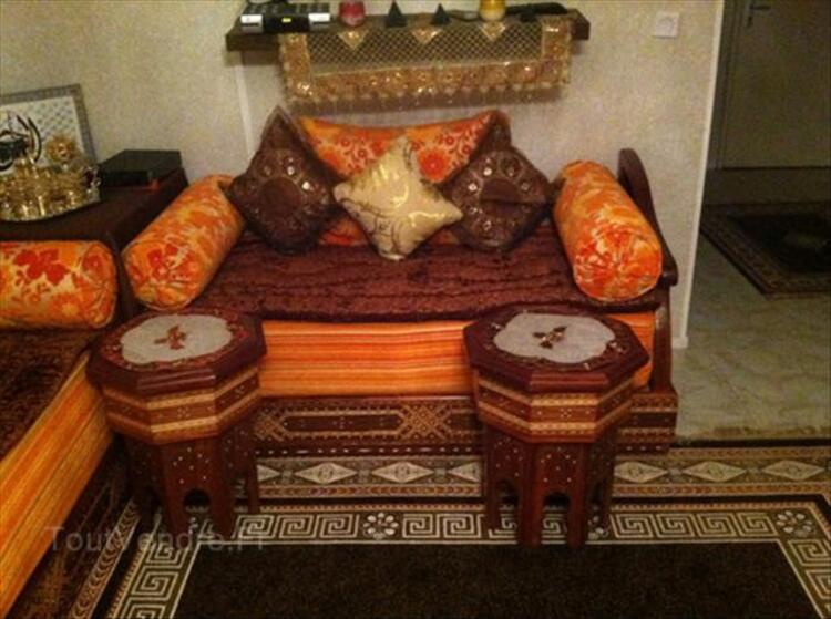 Salon De Type Marocain Orange Et Marron Chocolat Assat 64510